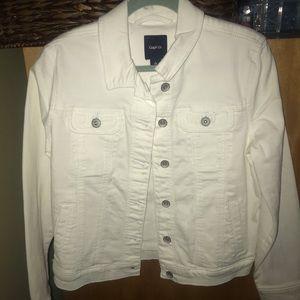 Gap Girls White Jeans Jacket Size Large